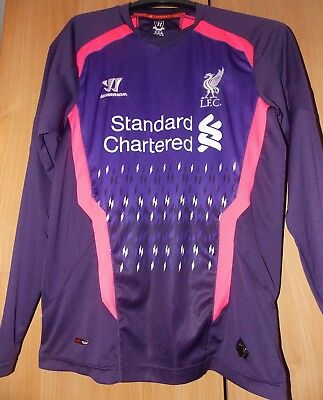 Warrior  Liverpool goalkeeper Shirt 2013-2014 shirt uk XL Boys approx 36