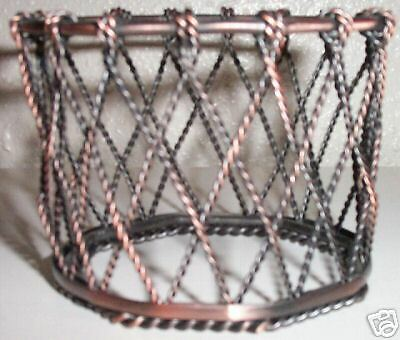 Partylite Home Scentiments Small Metal Basket For Jar Candle