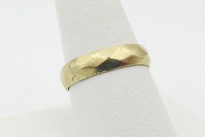Vintage Signed 1/20 12k Gold Filled Diamond Pattern Wedding Band Ring Size 9.5