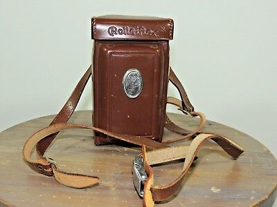 - Leather Rolleiflex Case for 3.5 Twin Lens Reflex Cameras