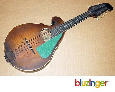 Vintage 1930's Regal Chicago Bell Brand Reverse Scroll Mandolin