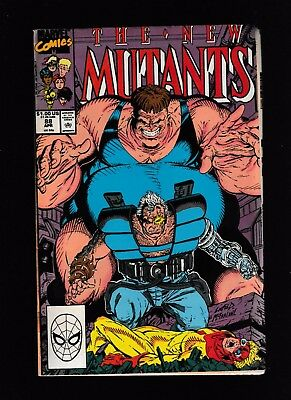 New Mutants # 88~2Nd App Of Cable~The Blob App~Key!!~Hot!!~Very Good