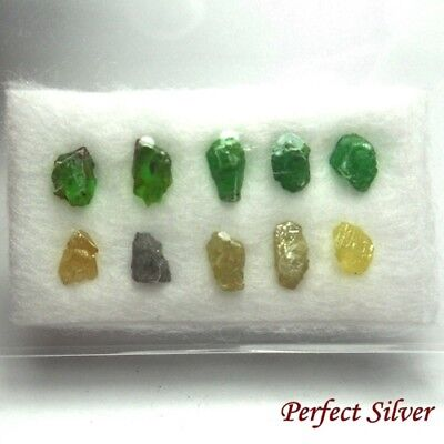 Raw ! Unheated Natural Mined Rough Loose Diamonds & Emerald  @ FREE SHIP