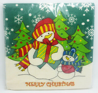 20 PCS/Pack Christmas Series Colorful Party Paper Napkin 33X33CM Pattern 5