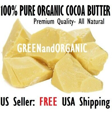 WHOLESALE 15Lbs Raw Cocoa Butter Organic 100%PURE Natural Unrefined COLD PRESSED