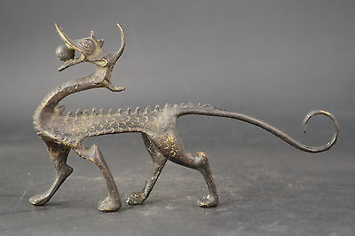 Fine Collectible China Old Copper Handwork Dragon Loong Exquisite nice Statue