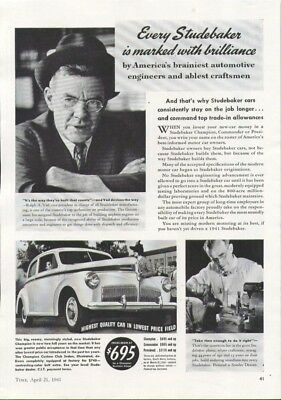 Every Studebaker is marked with brilliance ad 1941