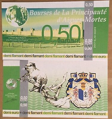 France** Banknote** Alternative Currency** 0,50 Euro Flamant ** 2016 Unc