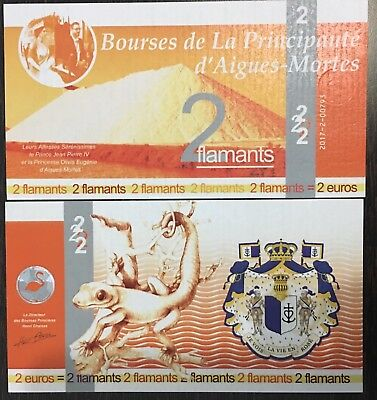 France** Banknote** Citizen Currency** 2 Euro Flamants ** 2016 Unc