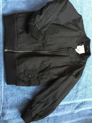 Baby Boys River Island Black Bomber Jacket. Embroidered Eagle. Age 18-24 Months.