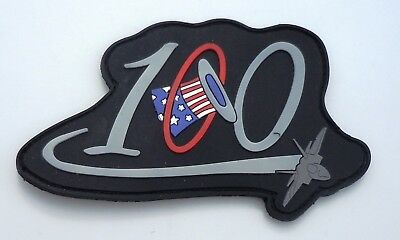 Usaf Military Patch F22 Raptor 94Th Fighter Squadron 100 Tears Pvc Type