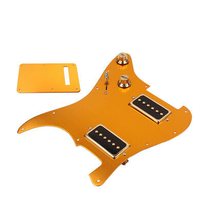 3-Ply Guitar Pickguard w/ Back Plate Pickup P90 for Fender  Guitar Gold
