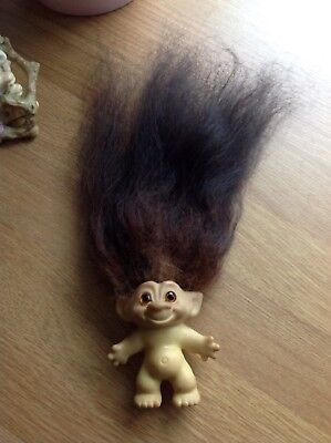 Vintage Troll doll with very extra long ombre hair