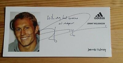 Jonny Wilkinson England Rugby World Cup Hand Signed Autographed PR Photocard