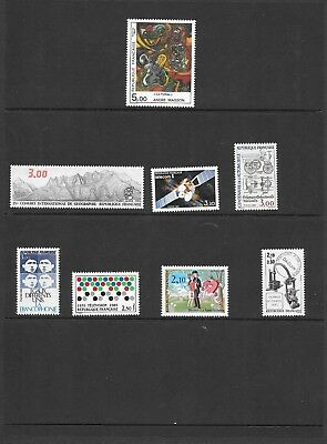 France - 1984/85 - 8 different issues - singles  - unmounted mint