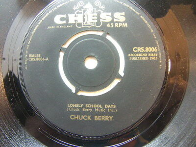 "Chuck Berry – Lonely School Days 1965 7"" Chess CRS 8006"