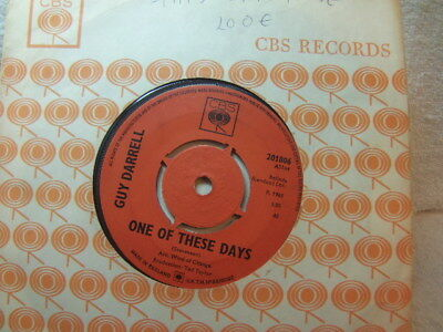 "Guy Darrell – One of These Days 1965 7"" CBS 201806"