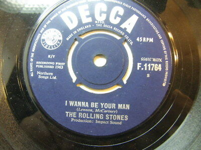 "Rolling Stones – I Wanna Be Your Man 1963 7"" Decca F.11675"