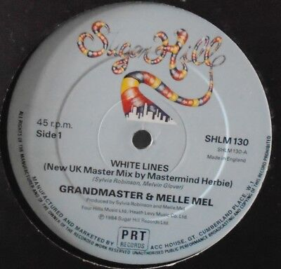 "GRANDMASTER & MELLE MEL - White Lines ~ 12"" Single"