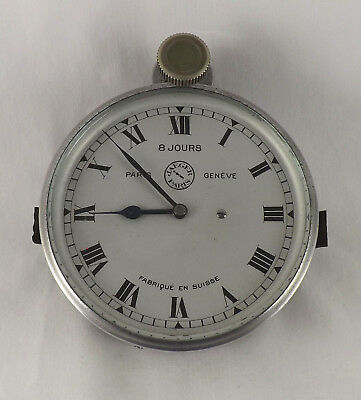 Excellent Top Quality Vintage Swiss Jaeger 8 Day Car Clock - Serviced & Restored