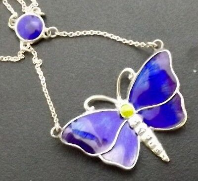 exquisite charles horner silver and enamel butterfly pendant c1911