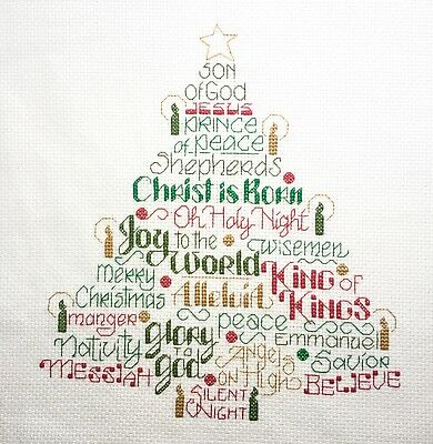 Completed finished cross stitch, gift, Let`s Believe
