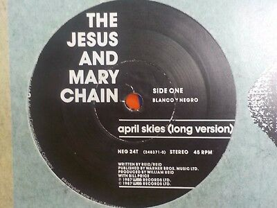 "Jesus And Mary Chain April Skies / Kill Surf City 1987 12"" Indie Shoegaze Vinyl"