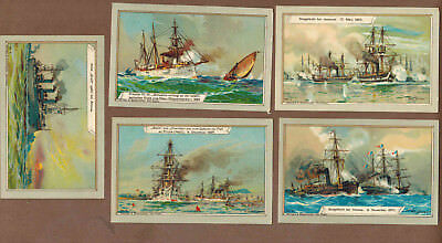 MILITARY: Collection of RARE Victorian Trade Cards from Germany (1900)s