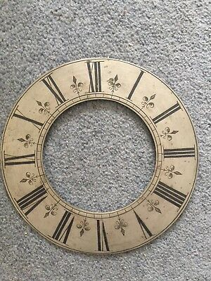Early Antique Clock Chapter Ring, Bracket Clock, Mantle Clock, Clock Parts