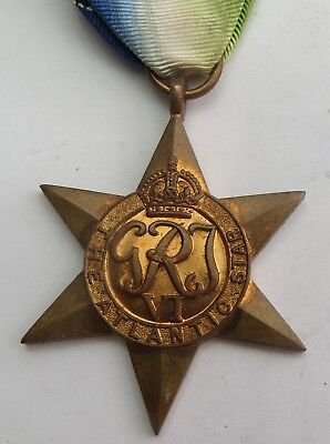 Authentic Wwii The Atlantic Star Medal With Ribbon