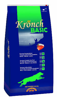 Henne Pet Food Basic Kronch Dog with Salmon 13,5kg G Oil Without Wheat