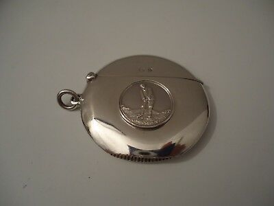 Stunning Antique Silver 'Tom Morris Golfer' Golf Vesta Case. 1910.