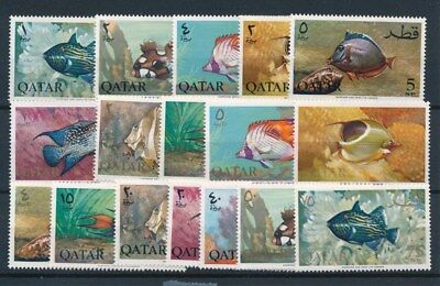 [94104] Qatar 1965 Fishes good set Very Fine MNH stamps