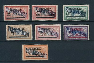 [94578] Memel 1921 good set Very Fine MH Airmail stamps
