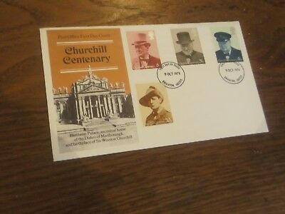 Gb - 1974 Sir Winston Churchill Centenary First Day Cover Postmarked Brighton