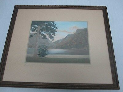 """Signed Charles Sawyer """"dixville Notch"""" Hand Tinted Framed Photograph"""