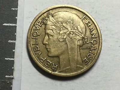 FRANCE KM886 1940 2 Franc coin excellent condition