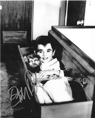 Butch Patrick Signed 8X10 B&W Eddie Munster Coffin Photo Autographed