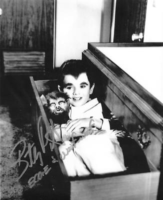 Butch Patrick Signed 8X10 B&W Eddie Munster Coffin Autograph Rare Inscription