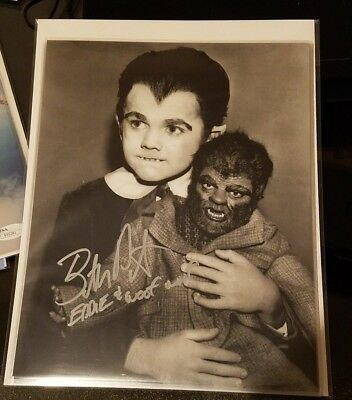 Butch Patrick Signed 8X10 B&W Eddie Munster Wolfe Autograph Rare Inscription