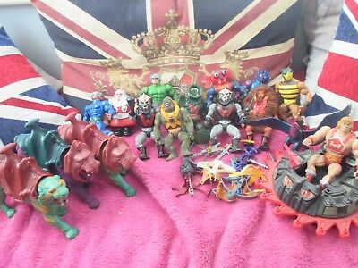 Big Vintage he man figures BattleCats Vehicles joblot masters of the universe