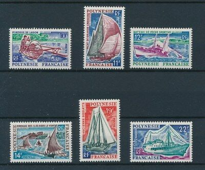 [95973] Polynesia 1966 Boats good set Very Fine MH stamps