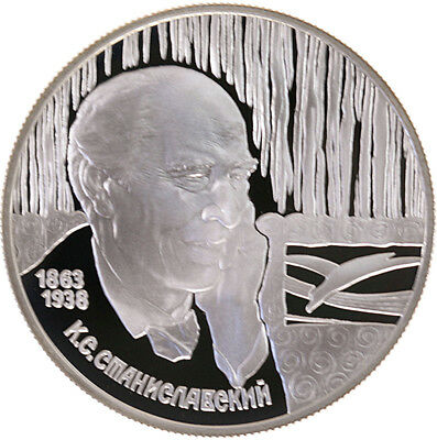 2 Rubel 1998, Russland, Silber, PP/Proof, Stanislawski, Parch. 821
