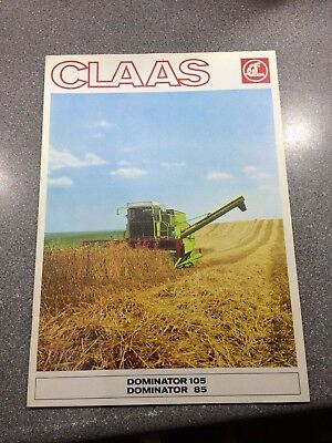 Pre owned 1977 Claas Dominator 105 + 85 combine harvester, 20 page Brochure