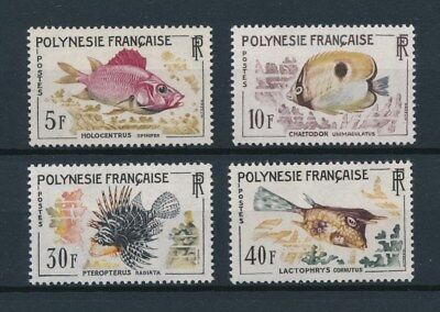 [96556] Polynesia 1962 Fishes good set Very Fine MNH stamps