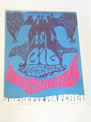 BIG BROTHER Journey to the End of Night CONCERT POSTER by BRUCE KREFTING