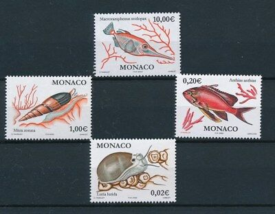 [96992] Monaco 2002 Fishes good set Very Fine MNH stamps