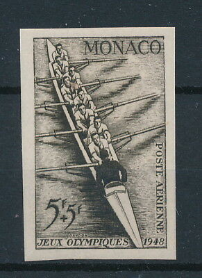 [97159] Monaco 1948 Boat good imperforated Airmail stamp Very Fine MH signed