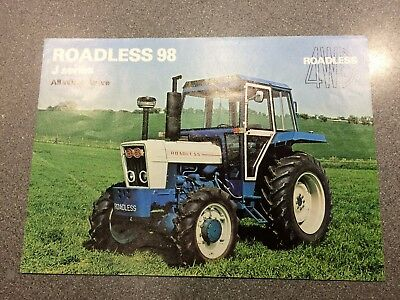 Pre owned Roadless Traction 98 J series single page Tractor Brochure