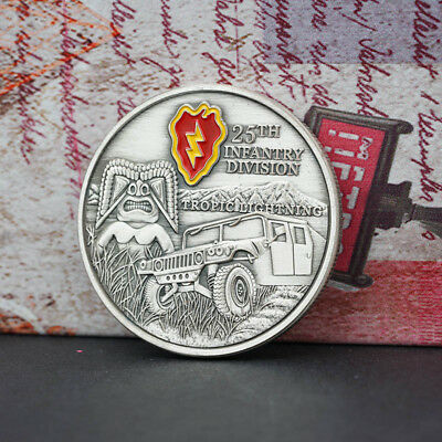 25 TH INFANTRY DIVISION Commemorative Coin Collection NEW Pop.